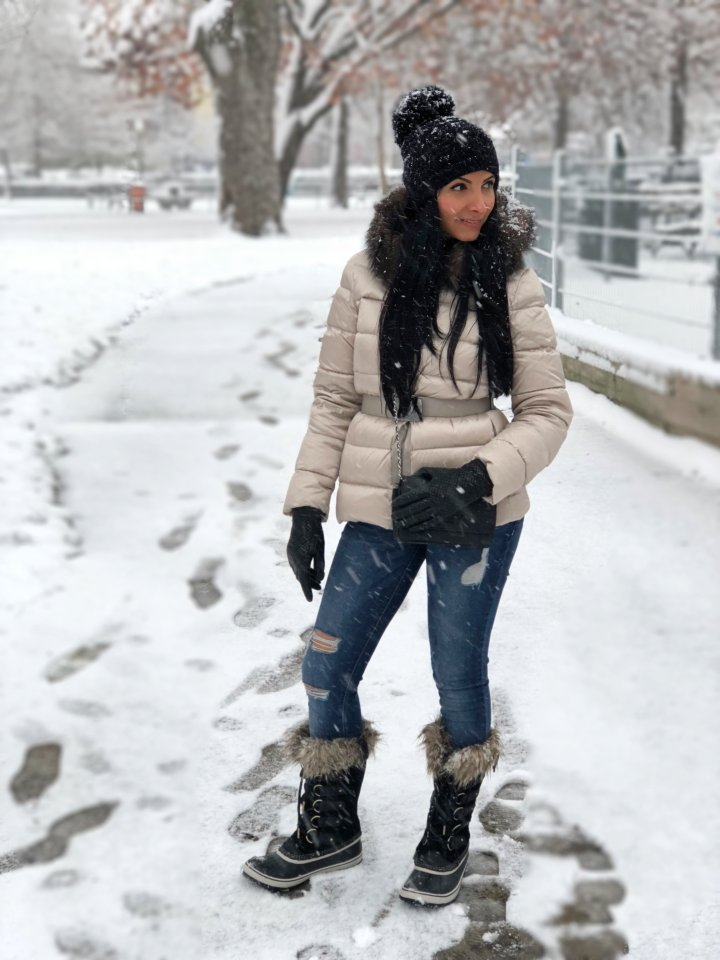 Snow Day Stylish Outfit | Atuendo Con Estilo Para Un Día Nevado